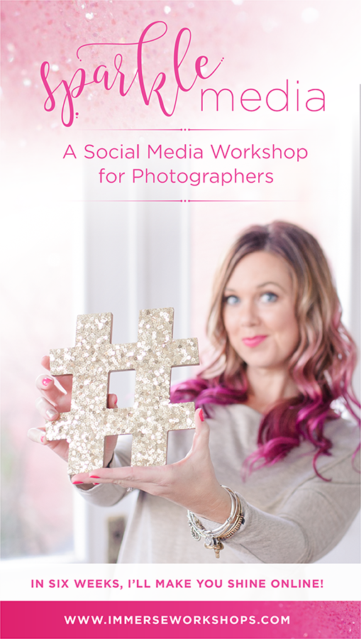 Sparkle Media is a Social Media Workshop for Photographers!  Learn to increase your followers, boost engagement & increase bookings!