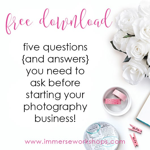 immerse workshops free download start your photography business