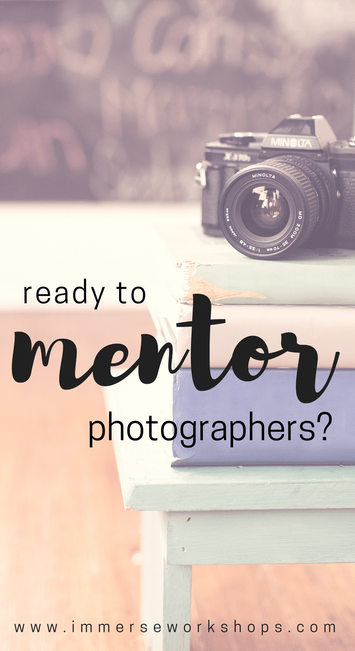 Should you mentor other photographers?  Use this checklist to help you decide!