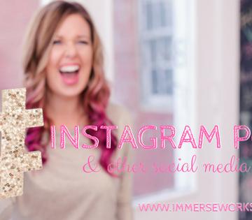 Sparkle Society Instagram Pods Immerse Workshops