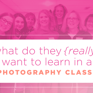 teach the right things in photography class