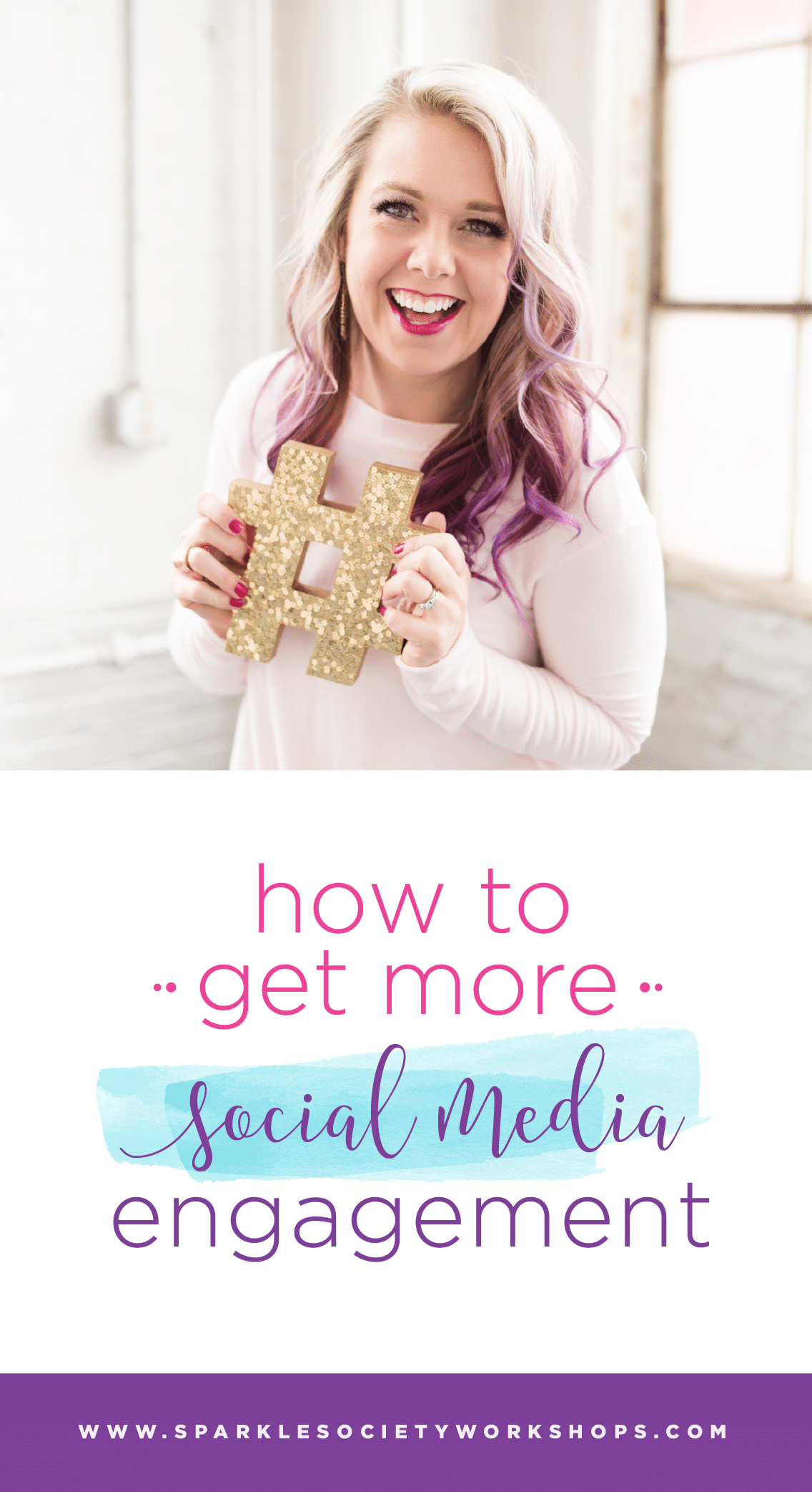 Don't worry, I got you! Getting social engagement doesn't come easy, but it can be done! Get my #1 tip on boosting engagement without selling your soul. #sparkleblog #sparklesociety @sparklesocietyworkshops