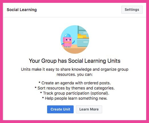 use facebook groups social learning