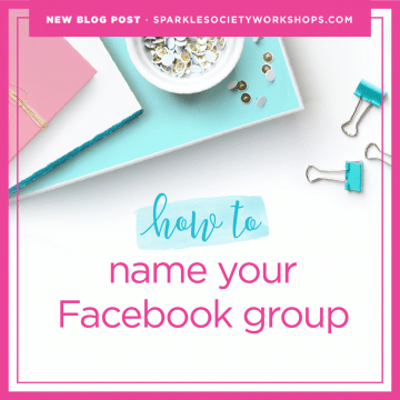 how to name your facebook group