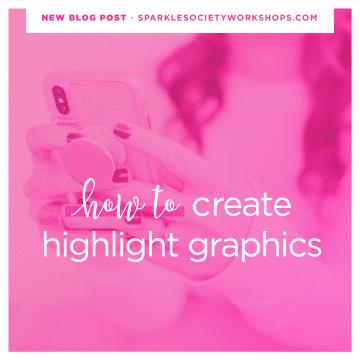 instagram story highlight graphics sparkle society