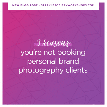 booking personal brand photography clients